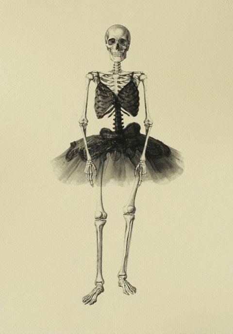 Skeleton in Tutu