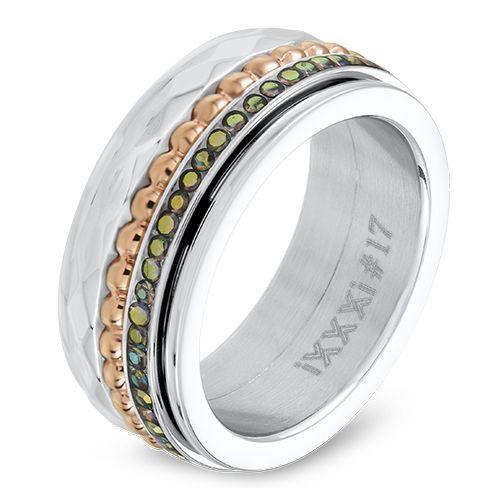 iXXXi JEWELRY 0.8 CM ring gevuld met 3 2mm ringen.