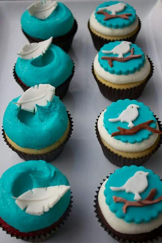 Birdie cupcakes