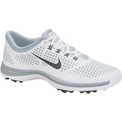 Nike Ladies Lunar Empress Golf Shoes - White/Pure Platinum/Dark Grey Lori's Golf Shoppe