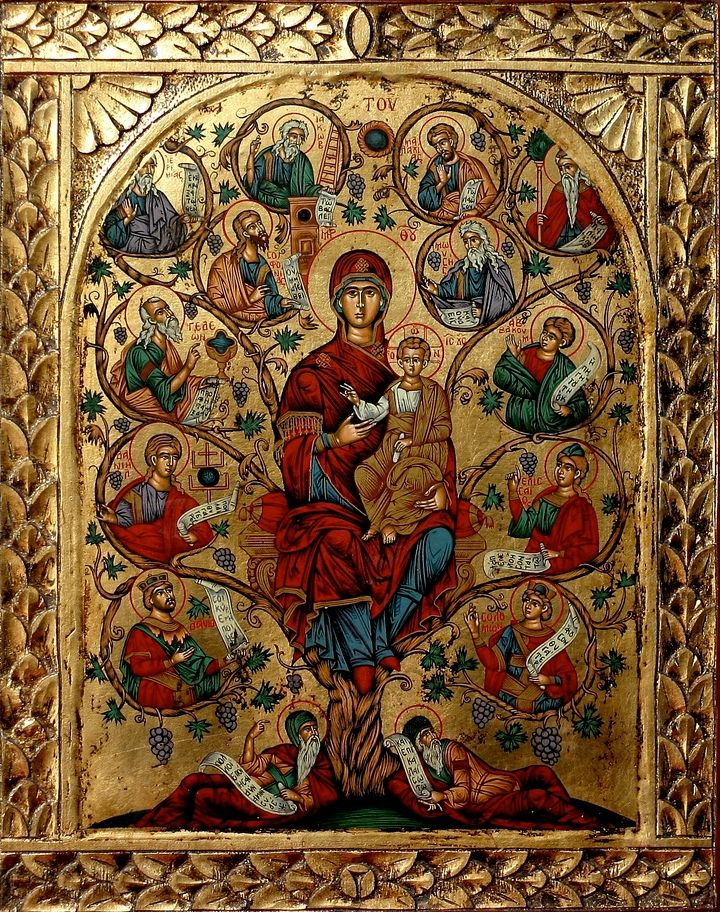 The Tree of Jesse (The Holy Tree)The Tree of Life,  c.1753 Artist: Anonymous