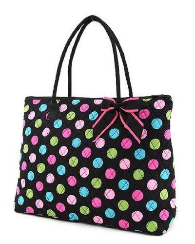 Belvah Extra Large Quilted Polka Dots Tote Handbag (Black/Multi) Belvah,http://www.amazon.com/dp/B00A87N4YY/ref=cm_sw_r_pi_dp_evX2rb1MRMQ9JA4P