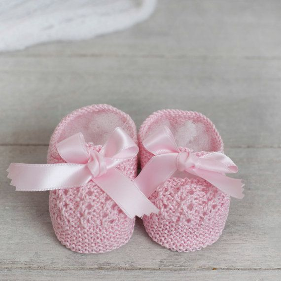 Merceditas de algodón para bebé tejidas a mano por ALittleDresses