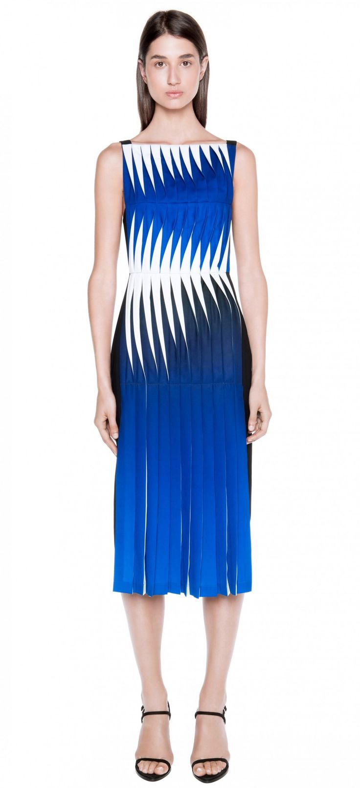 LENTICULAR PRINT PLEATED DRESS   Dion Lee