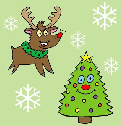 christmas deer tree wallpaper weihnachtsbilder. Black Bedroom Furniture Sets. Home Design Ideas