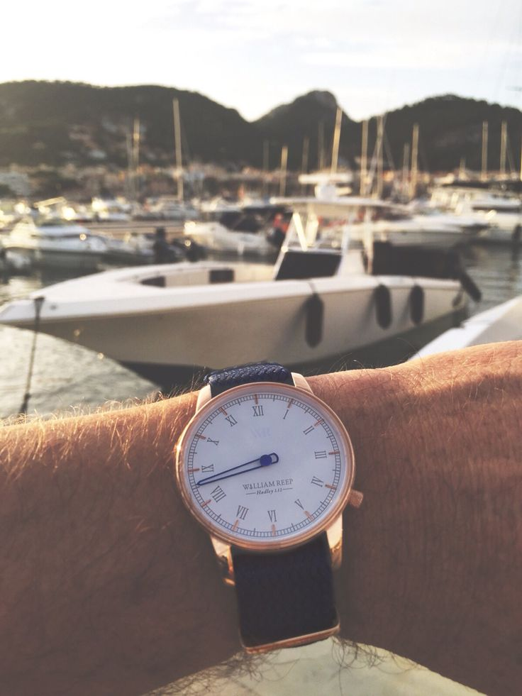 Recently in mallorca. The Limited Edition Hadley 1.12 watch fits perfectly to the harbour scene  #conqueryourtime #getreeped