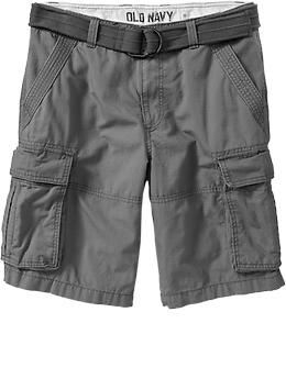 "Men's Belted Cargo Shorts (10 3/4"") 