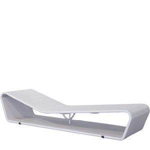 "Ibiza Chaise, White Wash BY PARKER JAMES D 80"" W 26"" H 17""  White Wash"