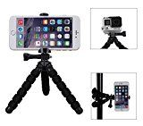 Fotopro Flexible Mini Tripod Stand for Smartphone and Gopro,iPhone Tripod,Smartphone Tripod,Gopro Tripod - Black