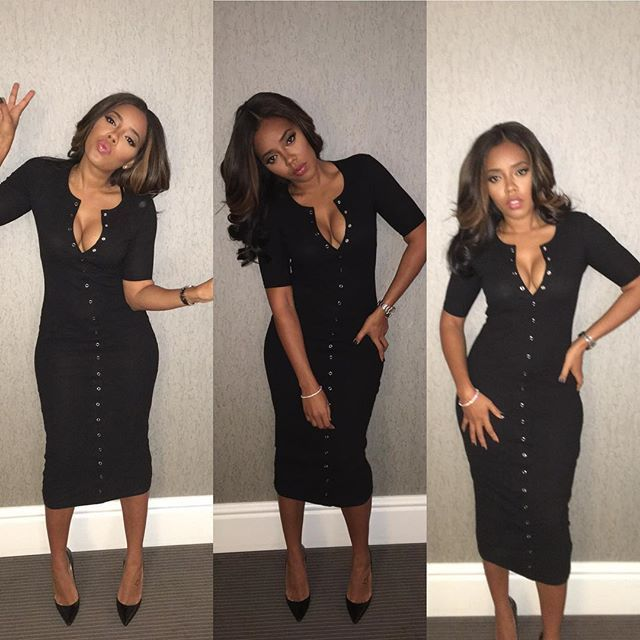 Angela Simmons Hair : @dhairboutique #allblack #simplechic