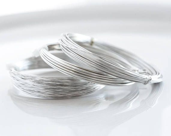 2961 Silver assorted wire Non tarnish wire Silver plated