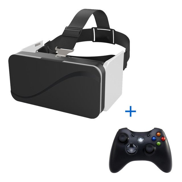 "VR Box 3D Headsets Foldable Virtual Reality Glasses/Goggles Cardboard 3D Glasses For Smartphone 4.7-6.0""With Wireless Controller"