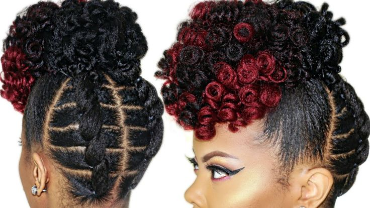 BRAIDLESS CROCHET | NO CORNROWS | HIGH PUFF TUTORIAL | UPDO NATURAL HAIRSTYLE [Video] - https://blackhairinformation.com/video-gallery/braidless-crochet-no-cornrows-high-puff-tutorial-updo-natural-hairstyle-video-3/