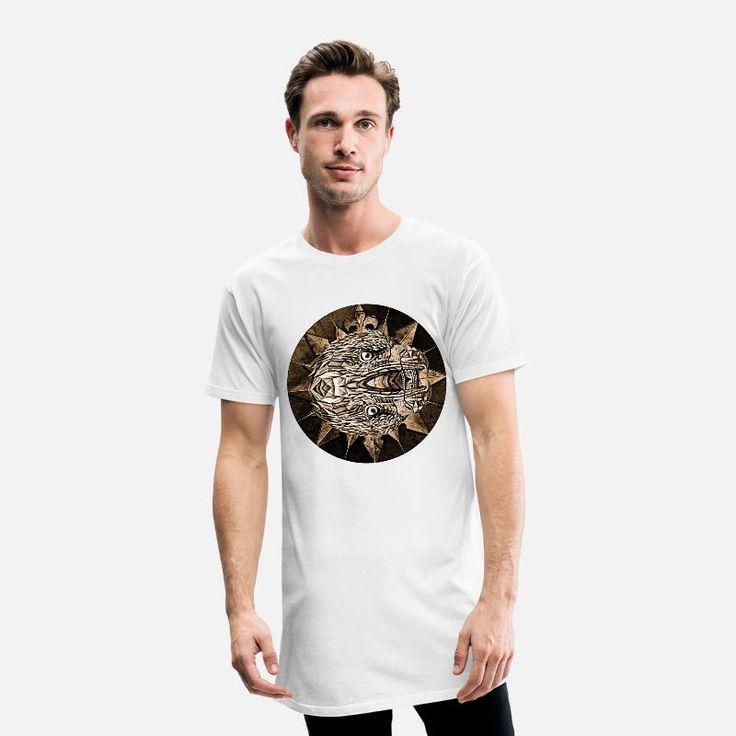 Wappen, Adler, Gothic Männer Urban Longshirt – Weiß