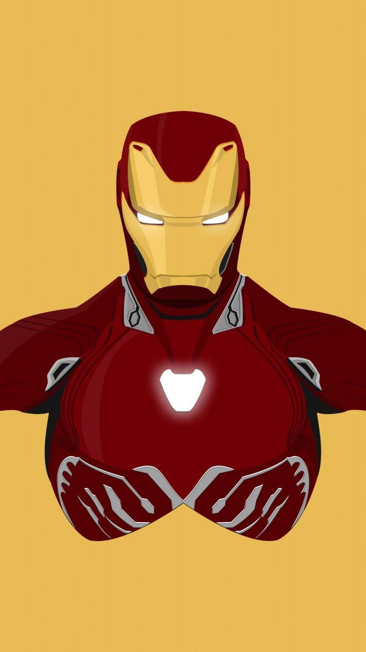 Downaload Iron Man Superhero Minimal Iron Suit Wallpaper For Screen 720x1280 Samsung Galaxy Mini S3 S5 Neo A Iron Man Marvel Iron Man Avengers Wallpaper