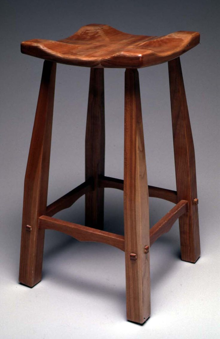 Lovely Stool, High, Cherry Wood, Lacquer Finish (photo: Al Surratt) Photo Gallery
