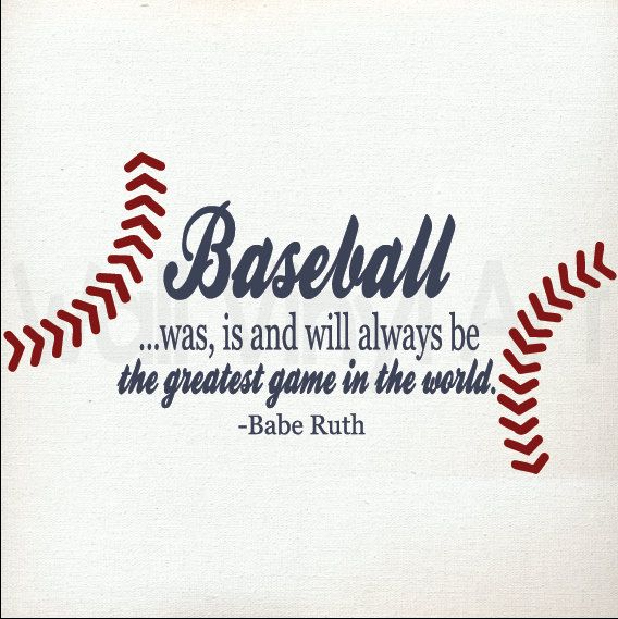 Babe Ruth, Baseball Quote. Vinyl Decal- Children's decor, Sports, Bedroom, Nursery, Baseball on Etsy, $14.00