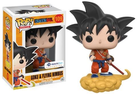 Funko Pop Dragon Ball - Goku and Flying Nimbus Orange Suit Exclusive with Pop Protector (Pre-Order) - Galactic Toys & Collectibles