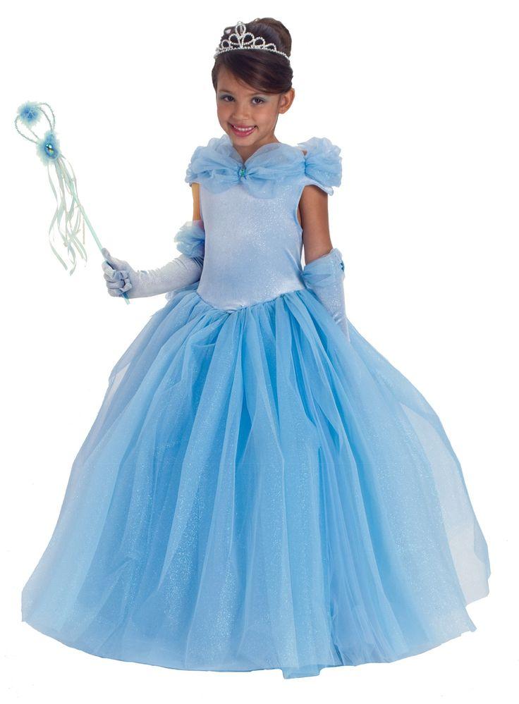 Платье для девочки в голубых тонах для создания образа Золушки на праздник, театральную постановку или утренник — http://fas.st/wdxEbT