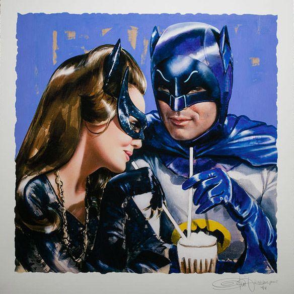 Batman Catwoman 'Meanwhile at the Sweet Shoppe' Art Print