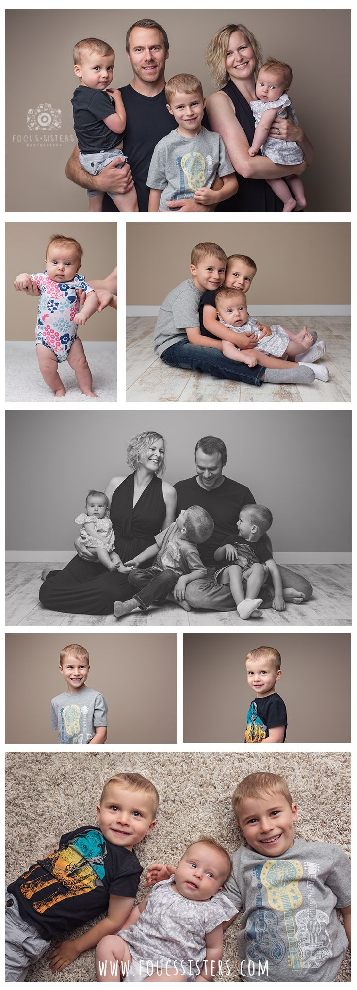 In Studio Family Photos | Family Session | Family Photography | Calgary Alberta | Focus Sisters Photography