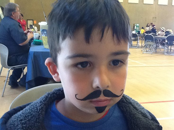 Pirate Moustache Face Painting