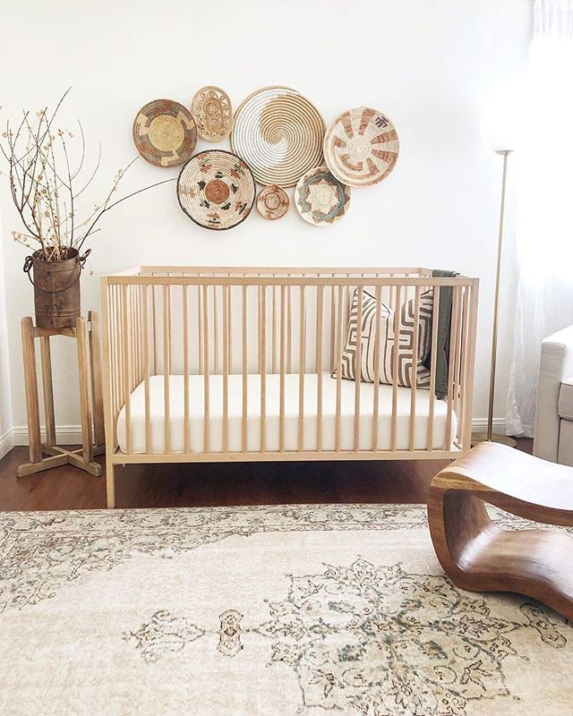 Loving This Woven Baskets Styled Above The Crib Image