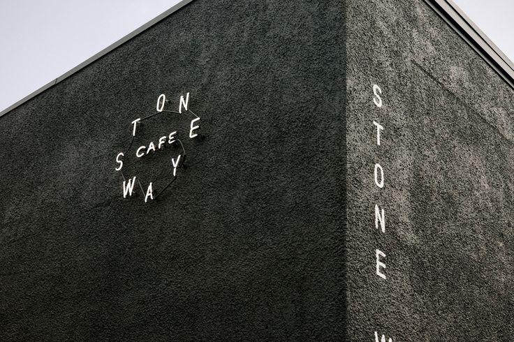 Stoneway Cafe by Shore, Seattle, Washington. #logo #branding #signage
