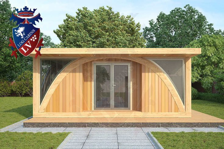 Residential Timber Frame Glulam Insulated Park Home by www.logcabins.lv (2)