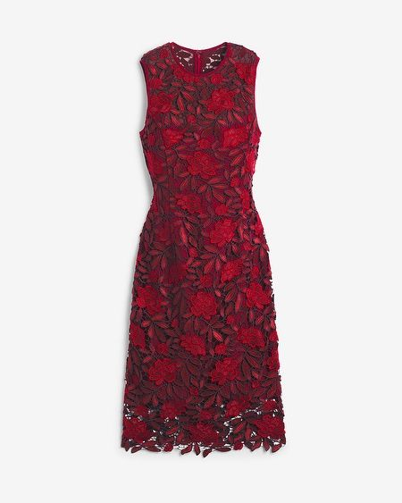 Tonal-Lace Sheath Dress - when it goes on sale maybe! WHBM.