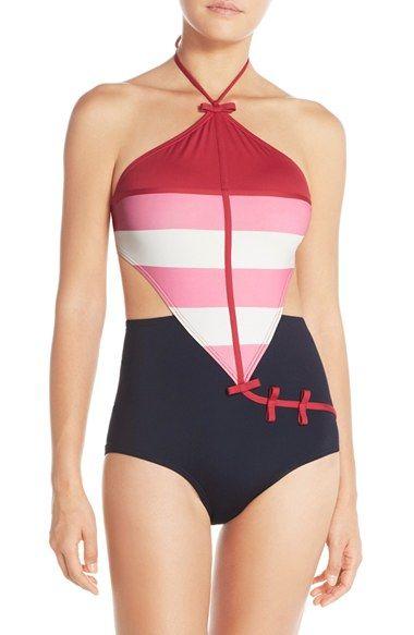 Je ne vais pas me l'offrir, mais je trouve que c'est un très chouette design! Kate spade new york 'balboa island' halter one-piece swimsuit