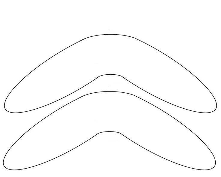 Boomerang Template - free to use