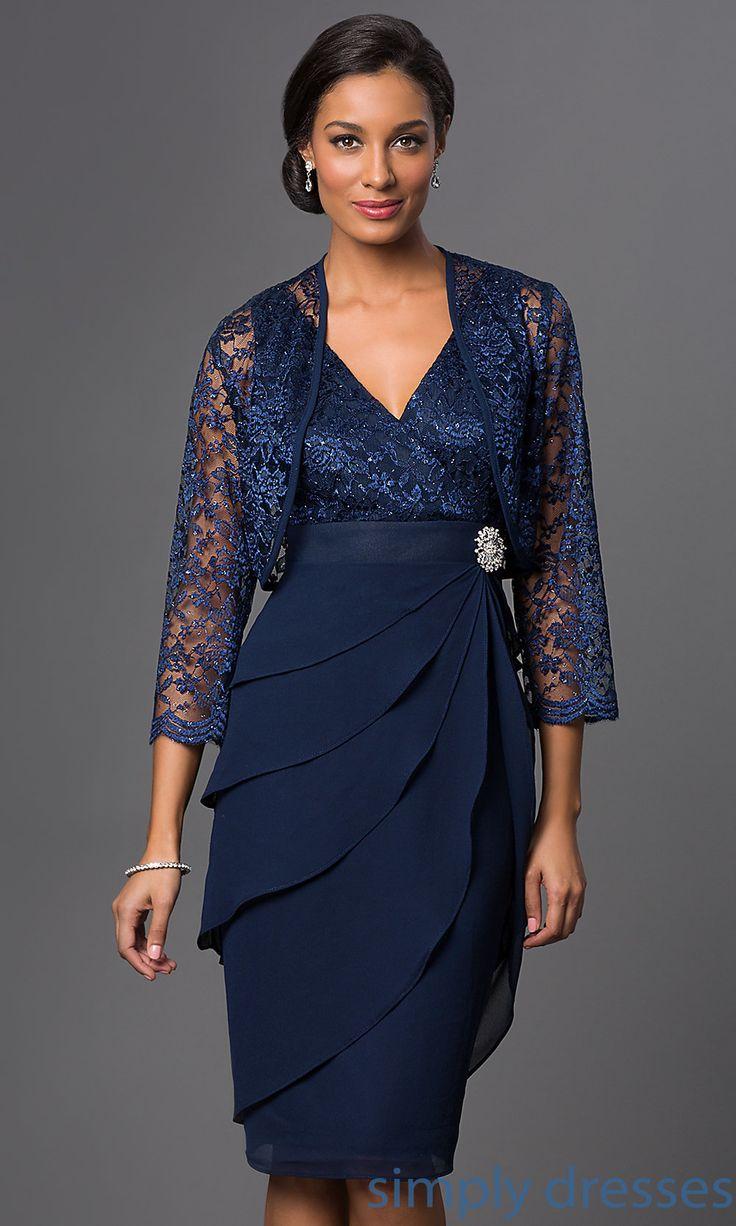 Knee Length Sally Fashion Dress With Jacket Dresses