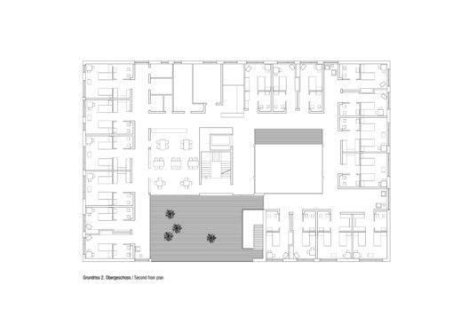 Nursing and Retirement Home,Second Floor Plan
