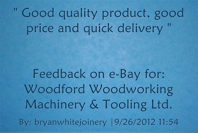 Good quality product, good price and quick delivery. bryanwhitejoinery ...