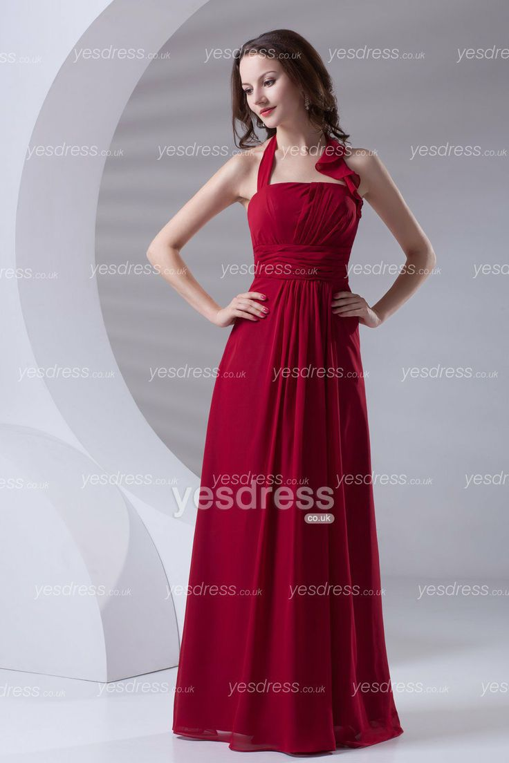 31 best bridesmaids dresses images on pinterest bridesmaids dark red top halter a line ruffled floor length chiffon long bridesmaid dress ombrellifo Choice Image