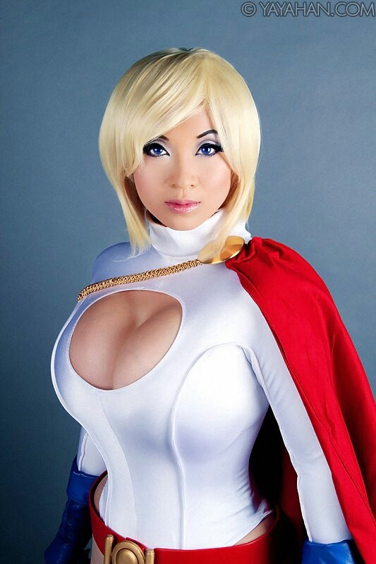 Larkin Love As Power Girl Cosplay