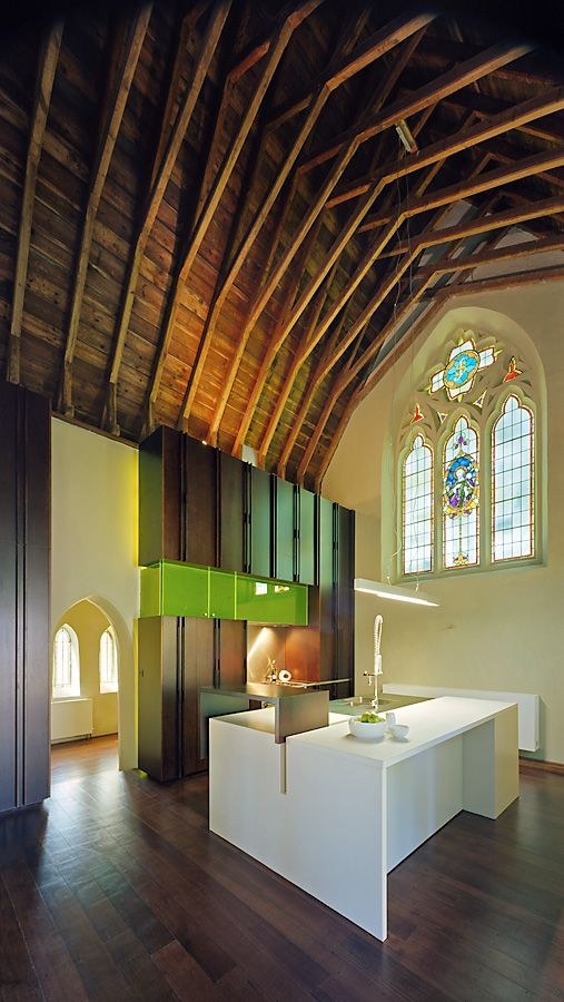17 best ideas about church conversions on pinterest transformation church modern family rooms for Church kitchen designs
