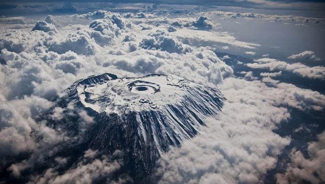 mount kilamanjaro from above