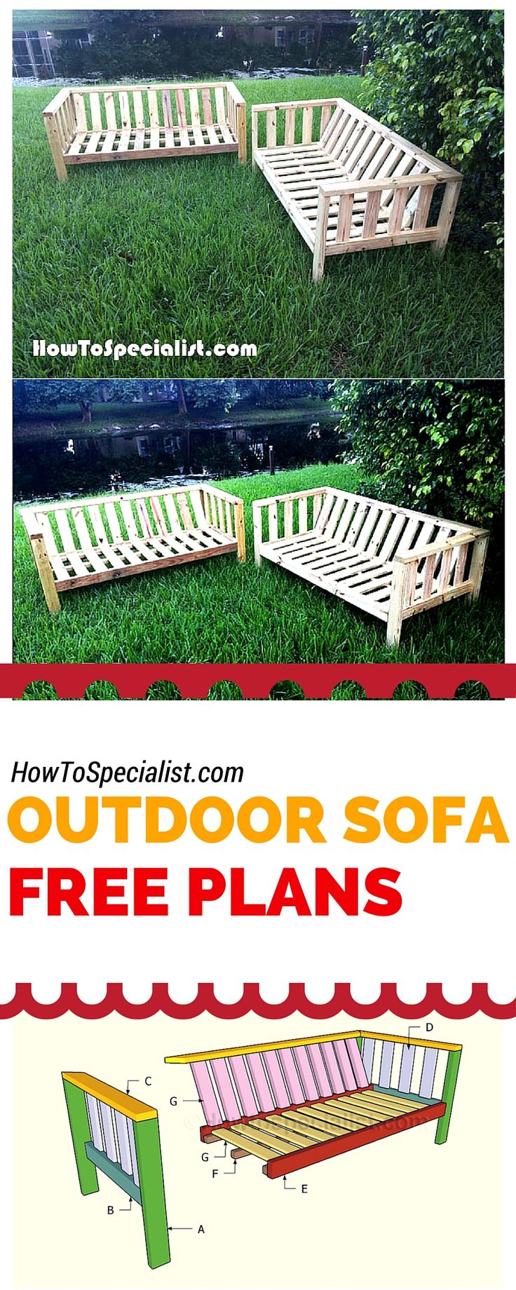 Pallet patio furniture instructions - Beautiful Indoor Outdoor Furniture Crafting Plans