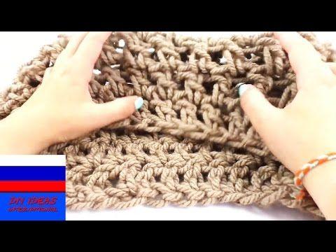 Урок вязания на пальцах | Легкий шарф на начало осени своими руками - YouTube