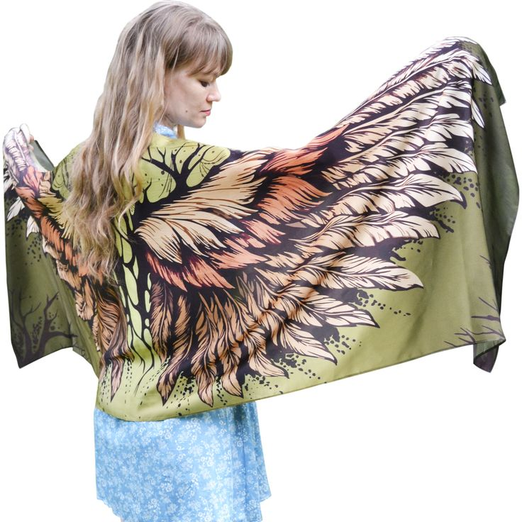 Bohemian shawl with wings