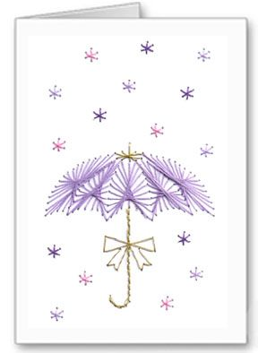 flower shower stitch card pattern