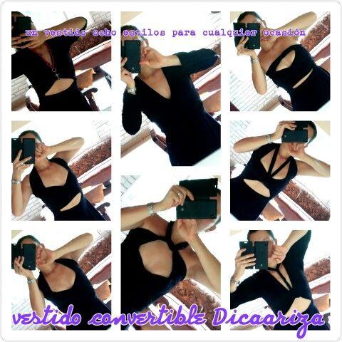 Vestido Convertible Dicaariza un vestido ocho estilos diferentes para cualquier ocasión whatsapp (57)3014777958