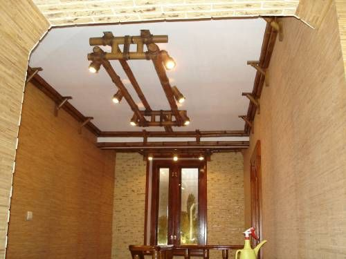 Подвесной потолок из бамбука