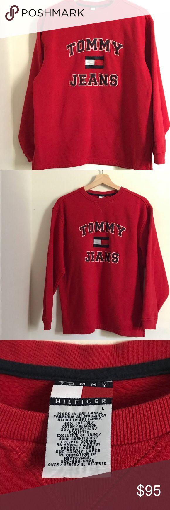 Original RED Tommy Hilfiger Sweater Men's RED Tommy