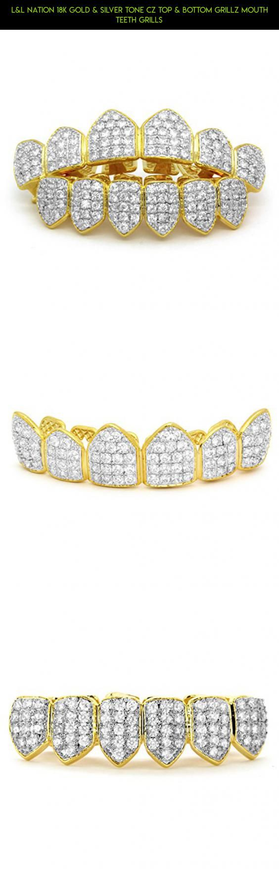 L&L Nation 18K Gold & Silver Tone CZ Top & Bottom GRILLZ Mouth Teeth Grills #teeth #shopping #products #gadgets #for #fpv #parts #grills #plans #racing #your #technology #kit #tech #camera #drone