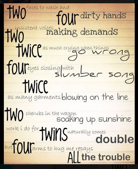 Twin Poem - hope you enjoy - brought to you by www.twinsgiftcompany.co.uk