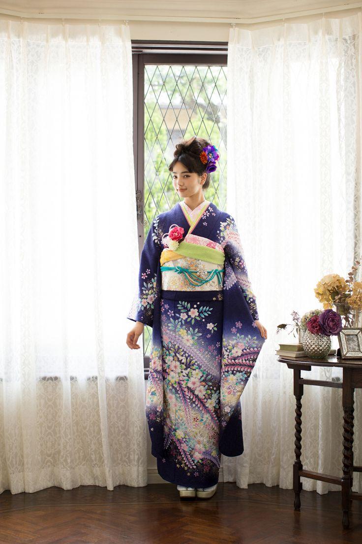 NO.043 正絹 手描辻が花|成人式の振袖販売、振袖レンタルの京都きもの友禅