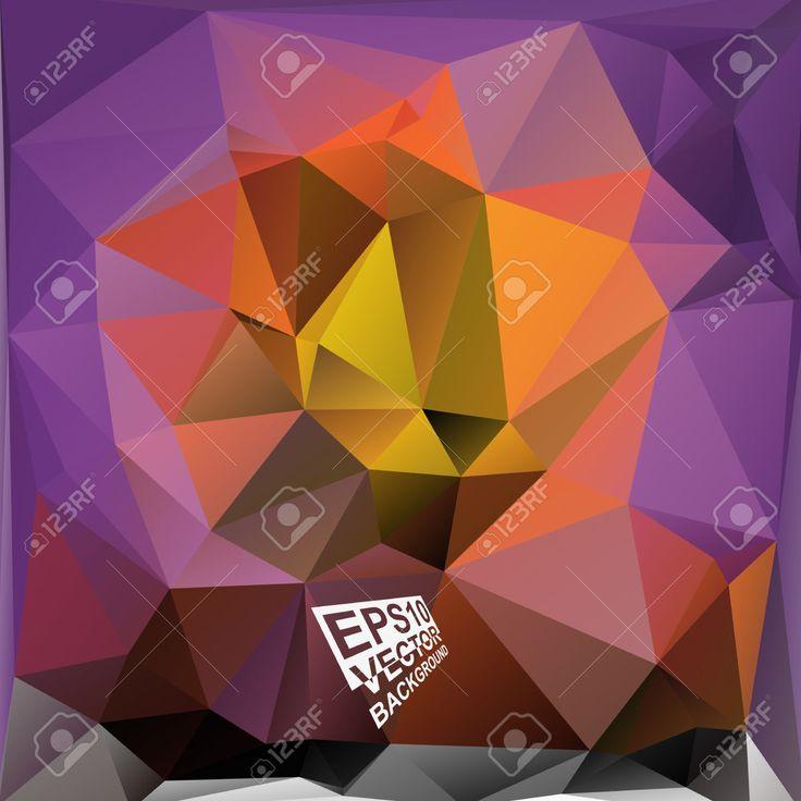 Multicolor (violeta, Púrpura, Naranja, Amarillo, Marrón) Plantillas De Diseño. Geométrico Fondo Moderno Triangular Abstracta. Ilustraciones Vectoriales, Clip Art Vectorizado Libre De Derechos. Pic 33083295.